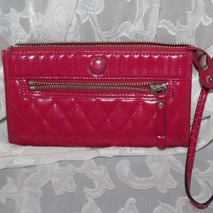 Coach Hot Pink Patent Leather Wallet Wristlet